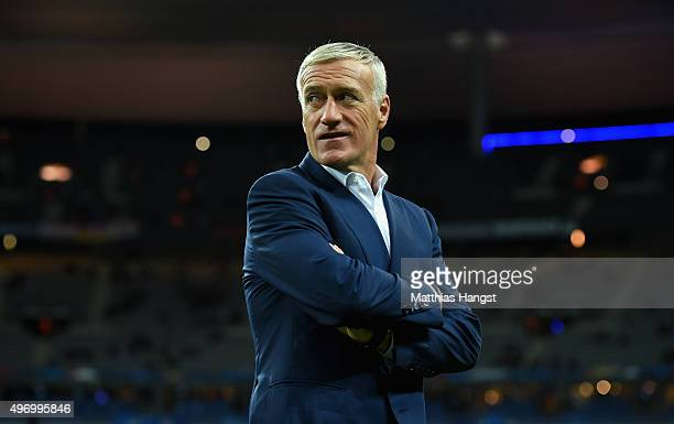 Didier Deschamps Head Coach of France looks on prior to the International Friendly match between France and Germany at the Stade de France on...