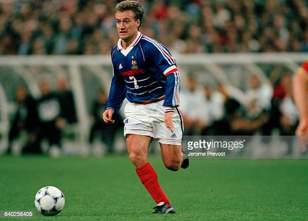Didier Deschamps in action during a qualifying match for the 2000 UEFA Euro against Andorra France won 20