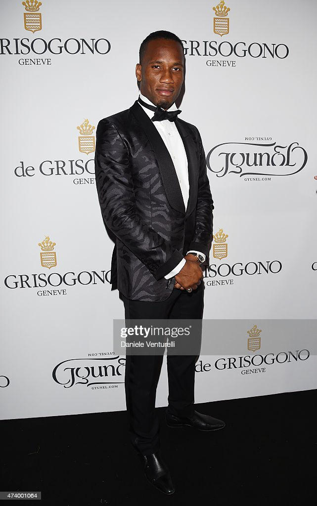 Didier Drogba attends the De Grisogono party during the 68th annual Cannes Film Festival on May 19, 2015 in Cap d'Antibes, France.