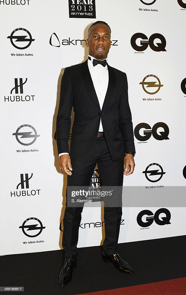 Didier Drogba attends the GQ Turkey Men of the Year awards at Four Seasons Bosphorus Hotel on December 11, 2013 in Istanbul, Turkey.