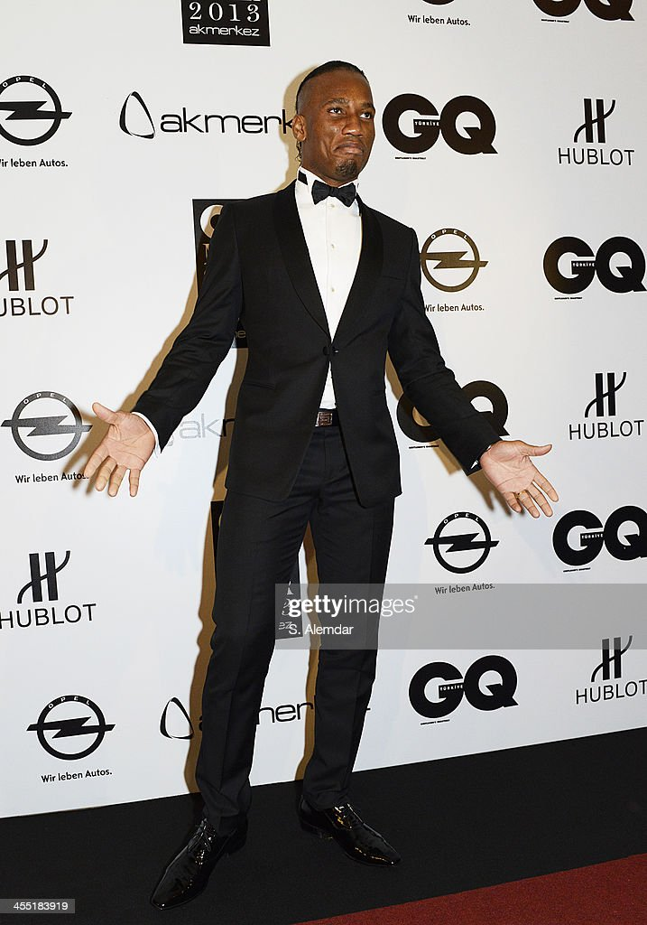 <a gi-track='captionPersonalityLinkClicked' href=/galleries/search?phrase=Didier+Drogba&family=editorial&specificpeople=179398 ng-click='$event.stopPropagation()'>Didier Drogba</a> attends the GQ Turkey Men of the Year awards at Four Seasons Bosphorus Hotel on December 11, 2013 in Istanbul, Turkey.