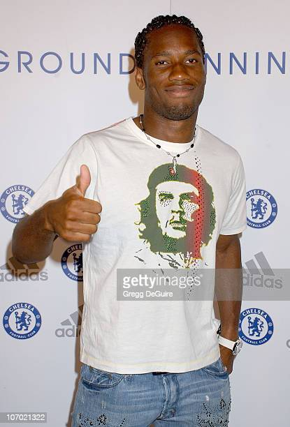 Didier Drogba during Chelsea FC Adidas William Morris Agency Host 'The Hit The Ground Running Party' Arrivals at The Skybar @ Mondrian Hotel in West...
