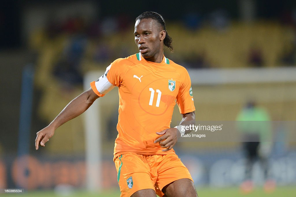 <a gi-track='captionPersonalityLinkClicked' href=/galleries/search?phrase=Didier+Drogba&family=editorial&specificpeople=179398 ng-click='$event.stopPropagation()'>Didier Drogba</a> during the 2013 African Cup of Nations match between Algeria and Ivory Coast at Royal Bafokeng Stadium on January 30, 2013 in Rustenburg, South Africa.