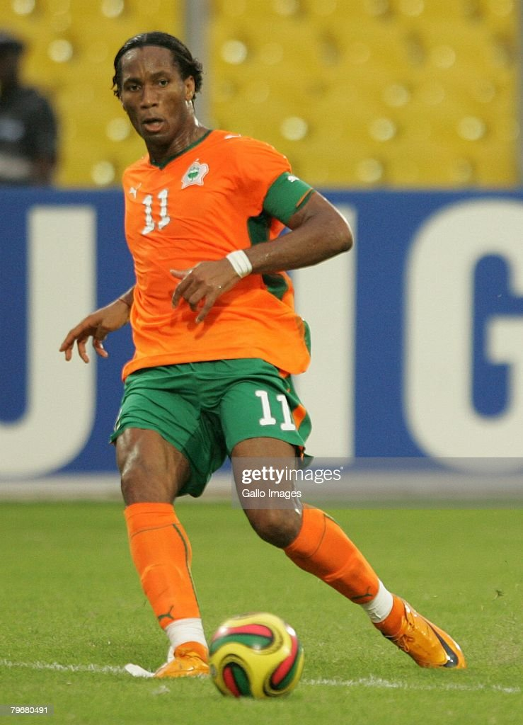 Didier Drogba during the AFCON 3rd and 4th playoff match between Ghana and Ivory Coast held at the Baba Yara Stadium on February 9 2008 in Kumasi...