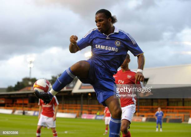 Didier Drogba of Chelsea during a Barclays Premier Reserve League South match between Arsenal Reserves and Chelsea Reserves at Barnet FC's ground...