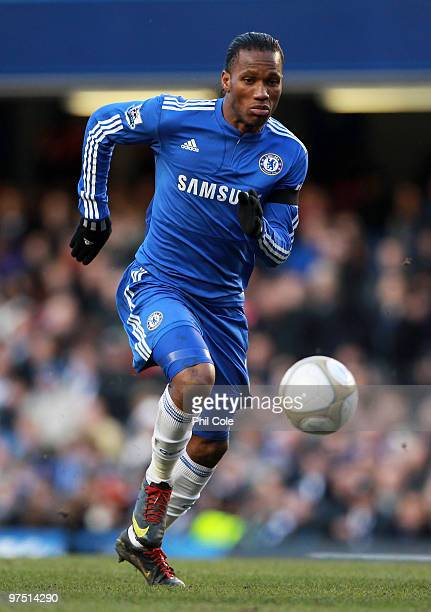 Didier Drogba of Chelsea in action during the FA Cup sponsored by Eon Quarter Final match between Chelsea and Stoke City at Stamford Bridge on March...