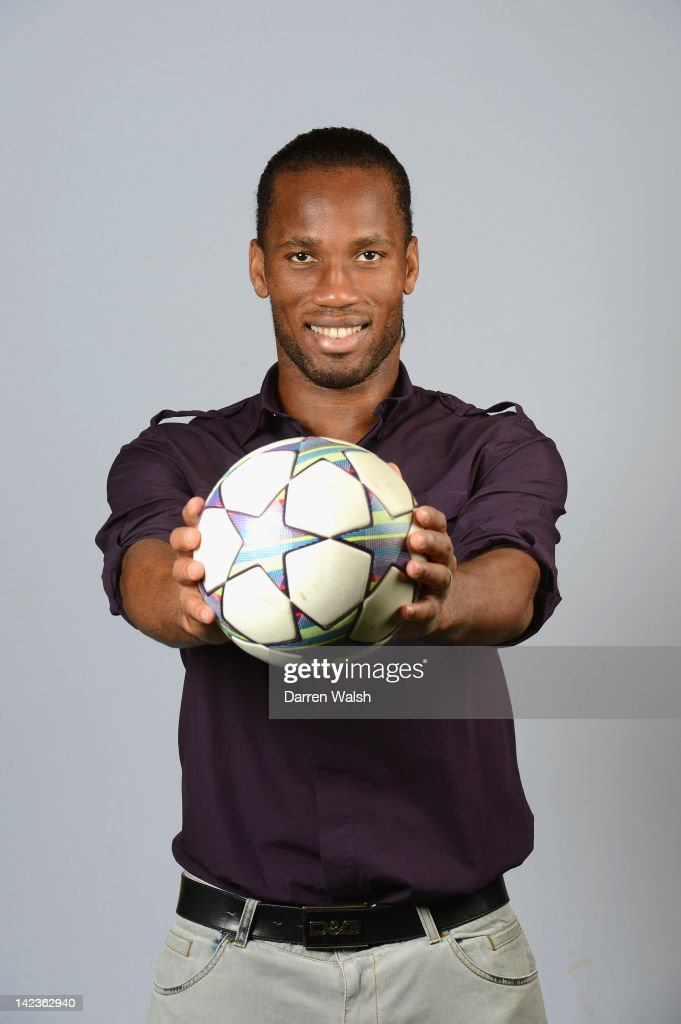 Didier Drogba of Chelsea poses during a portrait session at Chelsea's Cobham training ground on March 20, 2012 in Cobham, England.