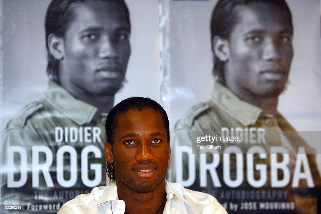 Didier Drogba of Chelsea talks to the media during a press conference to launch Didier Drogba's autobiography at Stamford Bridge on October 16 2008...