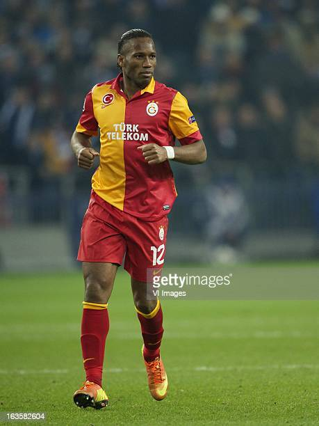 Didier Drogba of Galatasaray during the UEFA Champions League match between Schalke 04 and Galatasaray on March 12 2013 at the VeltinsArena at...
