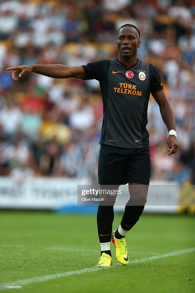Didier Drogba of Galatasaray in action during the pre season friendly match between Notts County and Galatasaray at Meadow Lane on July 16, 2013 in Nottingham, England.