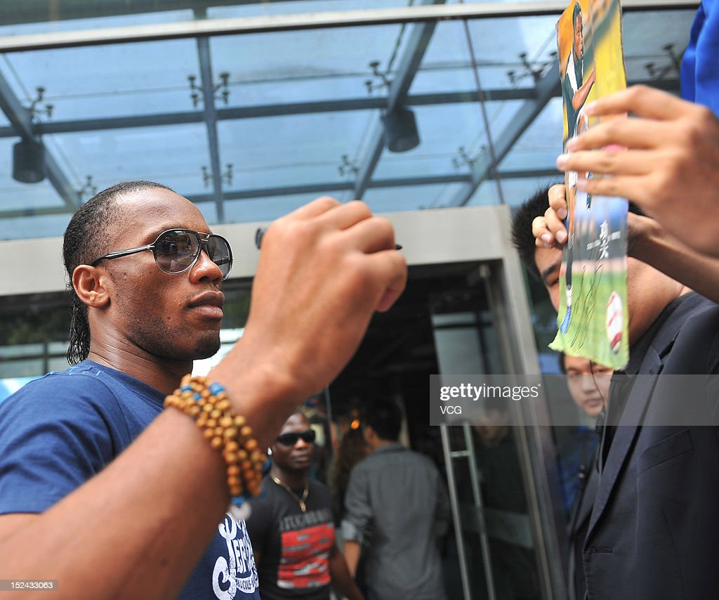 Didier Drogba of Shanghai Shenhua attends a meeting with fans on September 20, 2012 in Shanghai, China.