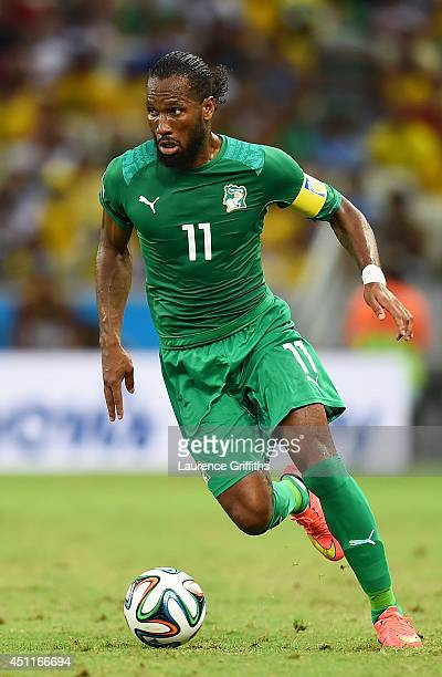 Didier Drogba of the Ivory Coast controls the ball during the 2014 FIFA World Cup Brazil Group C match between Greece and the Ivory Coast at Castelao...