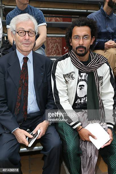 Didier Grumbach and Haider Ackermann attend the Lanvin show as part of the Paris Fashion Week Menswear Spring/Summer 2015 on June 29 2014 in Paris...