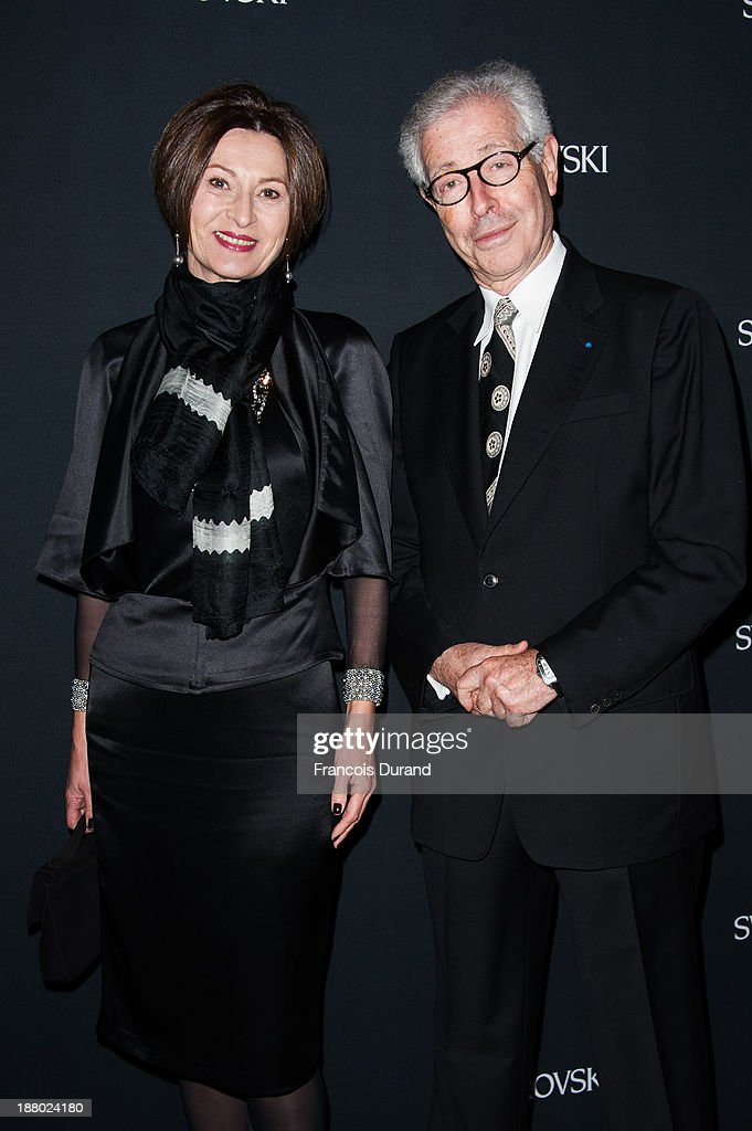 Didier Grumbach and Mika Dostanic attend the Swarovski Dinner In Honor of the Bouroullec Brothers at Chateau de Versailles on November 14, 2013 in Versailles, France.