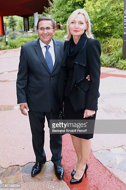 Didier Hassan and his wife Catherine attend 'Friends of Quai Branly Museum Society' dinner party at Musee du Quai Branly on September 9 2013 in Paris...