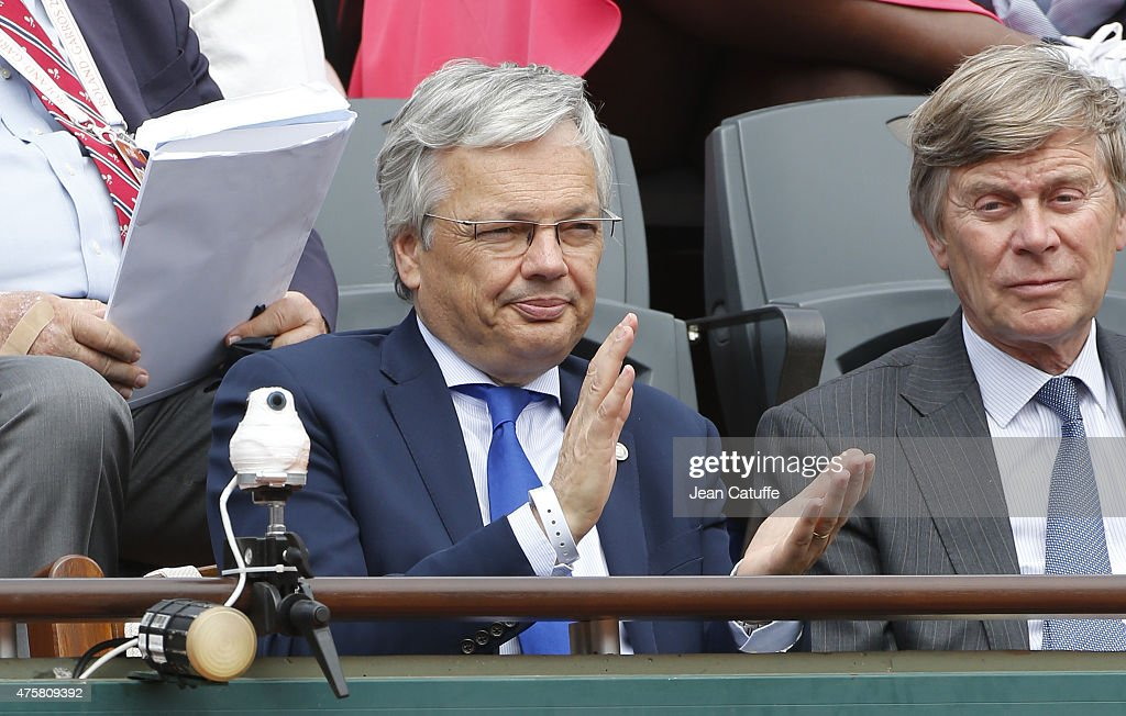 <a gi-track='captionPersonalityLinkClicked' href=/galleries/search?phrase=Didier+Reynders&family=editorial&specificpeople=548982 ng-click='$event.stopPropagation()'>Didier Reynders</a> attends day 10 of the French Open 2015 at Roland Garros stadium on June 2, 2015 in Paris, France.
