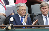Didier Reynders attends day 10 of the French Open 2015 at Roland Garros stadium on June 2 2015 in Paris France