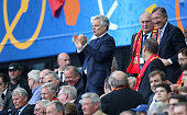 Didier Reynders attends the UEFA EURO 2016 Group E match between Belgium and Republic of Ireland at Stade Matmut Atlantique on June 18 2016 in...