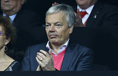 Didier Reynders Belgian Deputy Prime Minister and Minister of Foreign Affairs attends the doubles match during day two of the Davis Cup Final 2015...