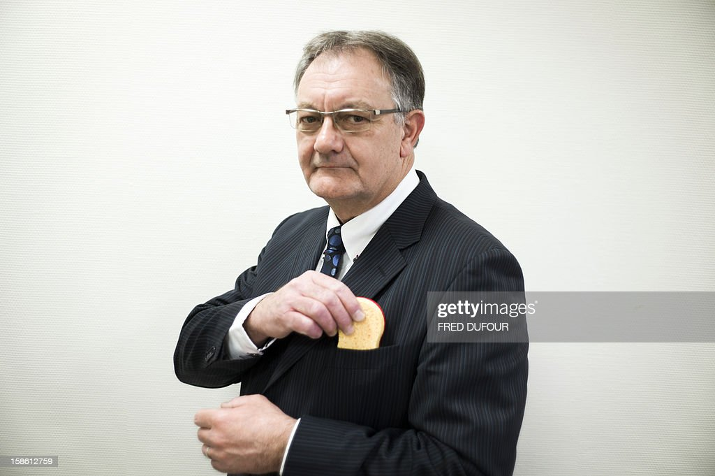Didier Riquier, Industrial director France of Spontex, poses at the factory of French sponge brand Spontex on December 19, 2012 in Beauvais.