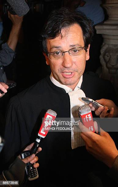 Didier Seban lawyer of one of the suspected members of the gang who allegedly abducted tortured and murdered on January 2006 Ilan Halimi speaks to...