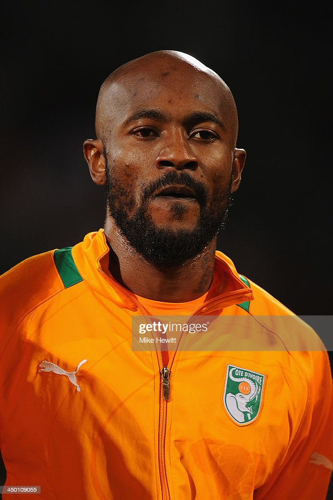 <a gi-track='captionPersonalityLinkClicked' href=/galleries/search?phrase=Didier+Zokora&family=editorial&specificpeople=550698 ng-click='$event.stopPropagation()'>Didier Zokora</a> of Ivory Coast lines up for the National Anthem during the FIFA 2014 World Cup Qualifier Play-off Second Leg between Senegal and Ivory Coast at Stade Mohammed V on November 16, 2013 in Casablanca, Morocco.