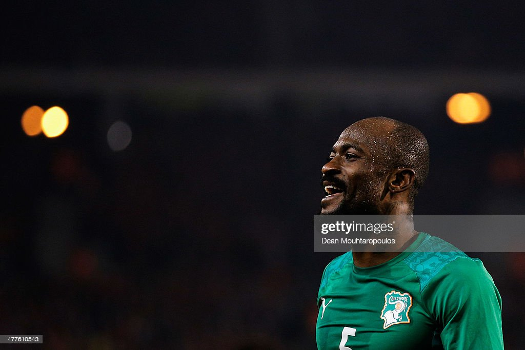 <a gi-track='captionPersonalityLinkClicked' href=/galleries/search?phrase=Didier+Zokora&family=editorial&specificpeople=550698 ng-click='$event.stopPropagation()'>Didier Zokora</a> of Ivory Coast looks on during the International Friendly match between Belgium and Ivory Coast at The King Baudouin Stadium on March 5, 2014 in Brussels, Belgium.