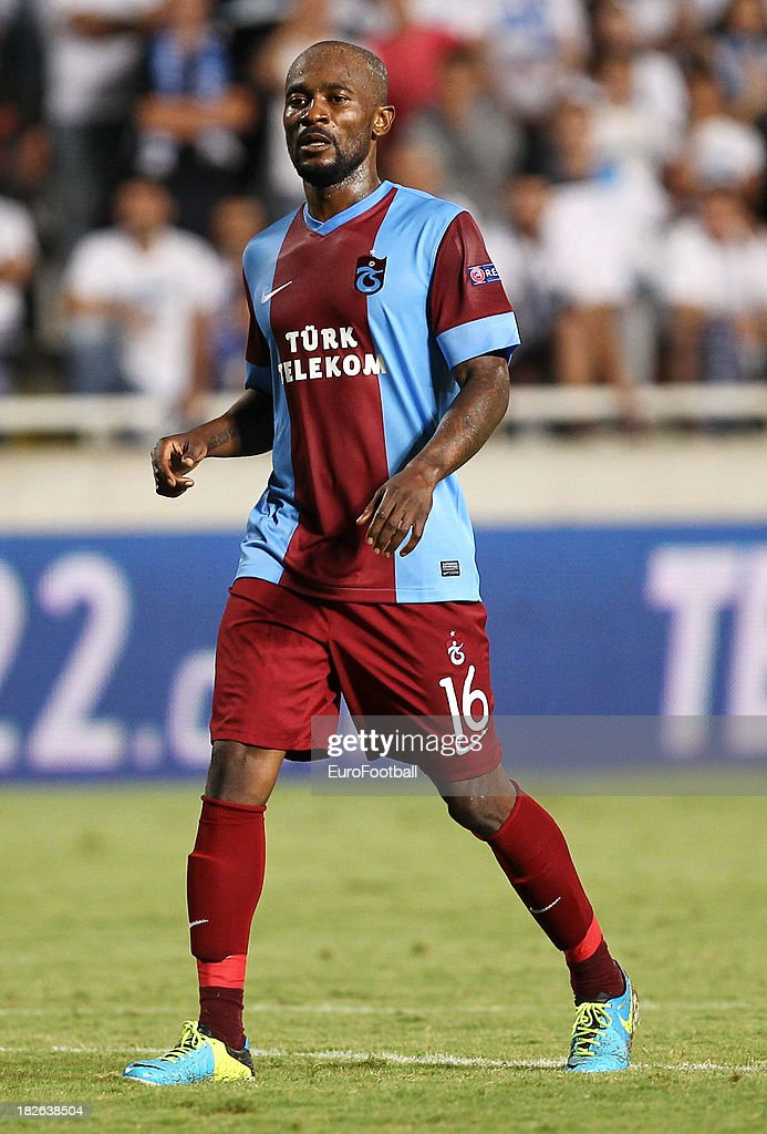 <a gi-track='captionPersonalityLinkClicked' href=/galleries/search?phrase=Didier+Zokora&family=editorial&specificpeople=550698 ng-click='$event.stopPropagation()'>Didier Zokora</a> of Trabzonspor AS in action during the UEFA Europa Leaque group stage match between Apollon Limassol FC and Trabzonspor AS held on September 19, 2013 at the GSP Stadium in Nicosia, Cyprus.