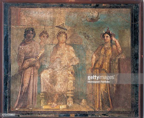 'Dido Abandoned by unknown artist 6279 1st Century AD ripped fresco 108 x 128 cm Italy Campania Naples National Archaeological Museum Room LXXII inv...