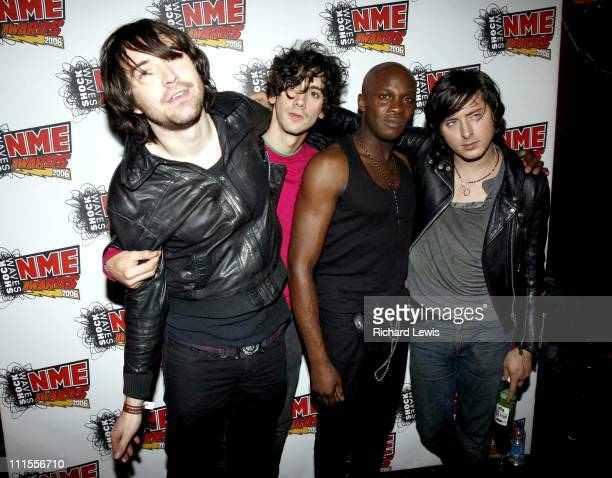 Didz Hammond Anthony Rossomando Gary Powell and Carl Barat of Dirty Pretty Things at The NME Shockwaves Awards 2006