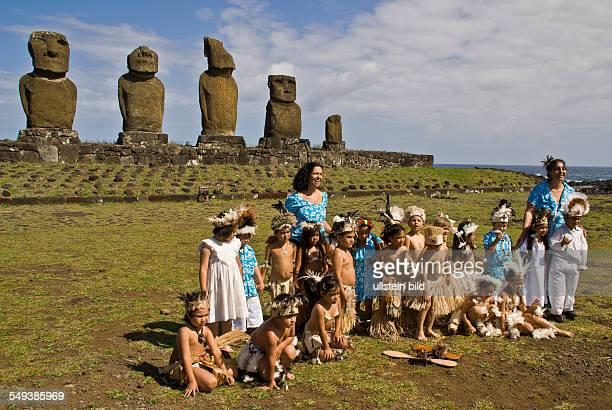 Die einheimischen Rapa Nuis pflegen ihr Brauchtum schon in der Volksschule