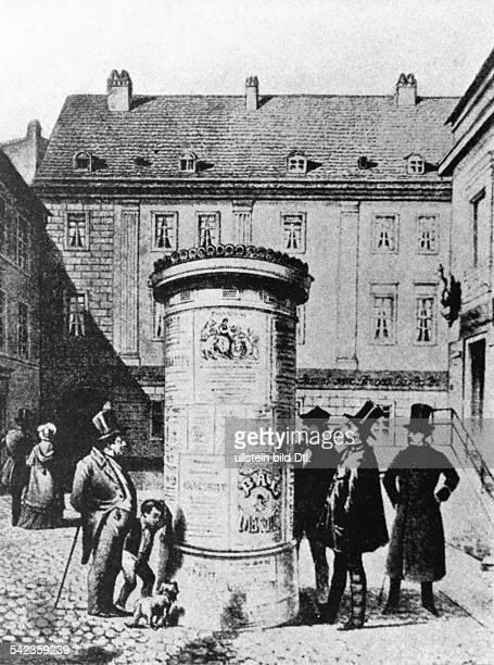 Die erste Berliner Litfasssäule 1855