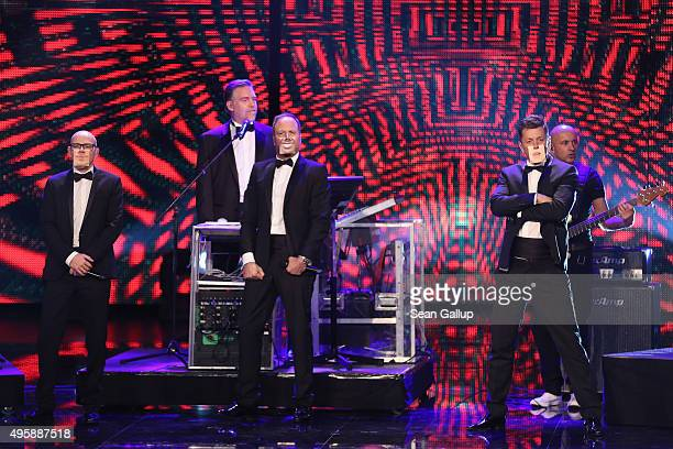 Die Fantastischen Vier perform on stage at the GQ Men of the year Award 2015 show at Komische Oper on November 5 2015 in Berlin Germany