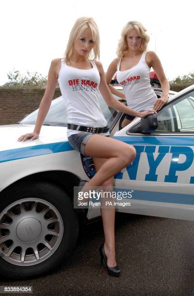 Die Hard Honeys and a NYPD Car help to launch Die Hard 40 on DVD at Click Studios Wapping in London