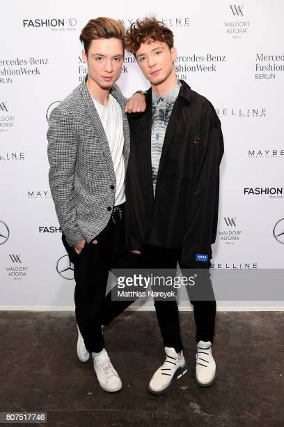 Die Lochis attend the Lena Hoschek show during the MercedesBenz Fashion Week Berlin Spring/Summer 2018 at Kaufhaus Jandorf on July 4 2017 in Berlin...