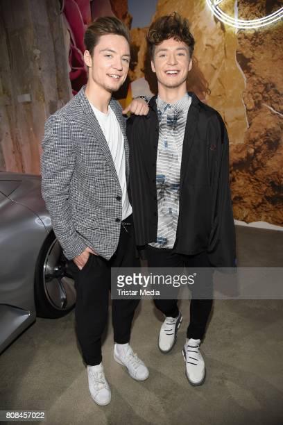 Die Lochis attend the Lena Hoschek show during the MercedesBenz Fashion Week Berlin Spring/Summer 2018 at Kaufhaus Jandorf on July 4 2017 in Berlin...