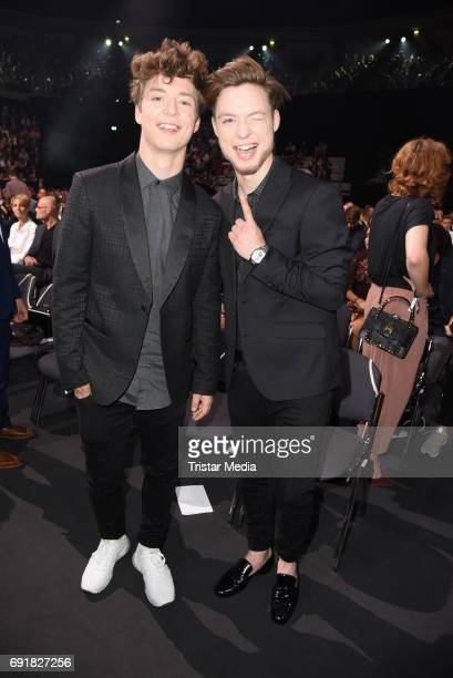 Die Lochis during the Deutscher Webvideopreis 2017 at ISS Dome on June 1 2017 in Duesseldorf Germany
