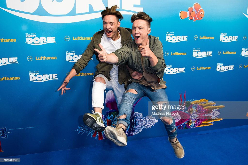 'Die Lochis' during the German premiere of the film 'Finding Dory' (German title: 'Findet Dorie') at Zoo Palast on September 15, 2016 in Berlin, Germany.