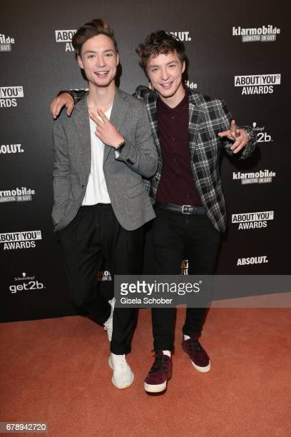 Die Lochis Roman and Heiko Lochmann during the ABOUT YOU AWARDS at the Mehr Theater in Hamburg on May 4 2017 in Hamburg Germany