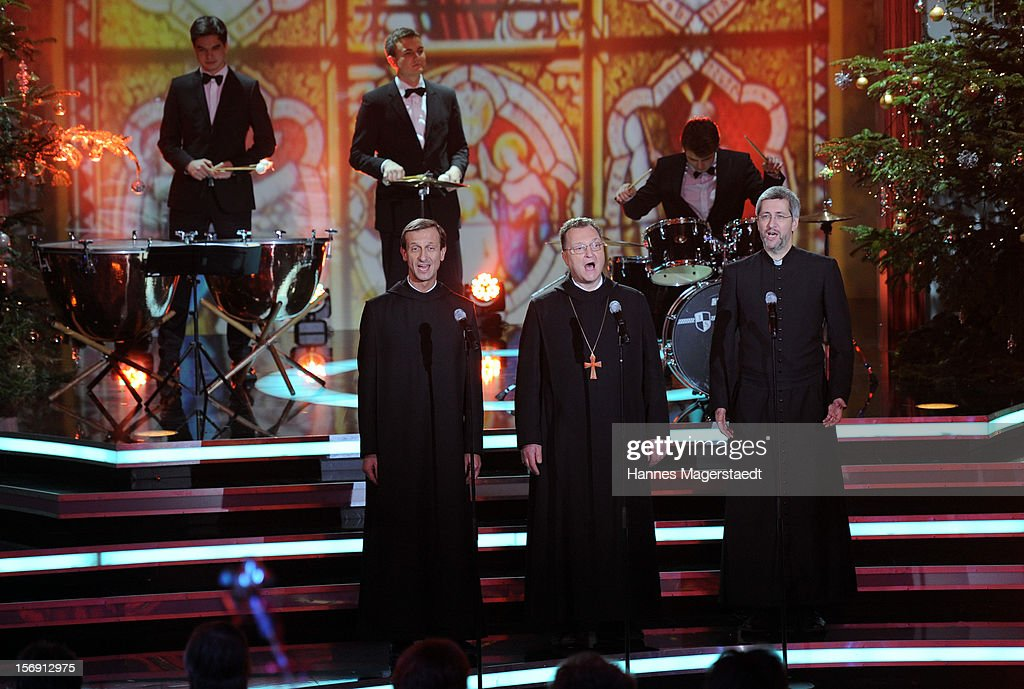Die Priester attend the 'Heiligabend Mit Carmen Nebel' Show Taping at the Bavaria Studios on November 24, 2012 in Munich, Germany.