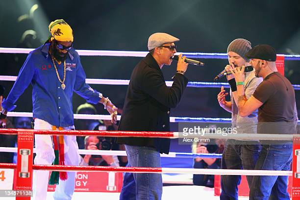 'Die Soehne Mannheims' perform before the WBA middleweight World Championship fight between champion Felix Sturm and challenger Martin Murray of...