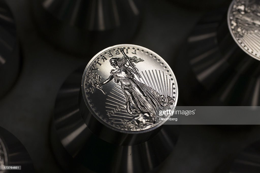 A die to be used for pressing $25 gold bullion coins rests on a cart at the U.S. Mint in Philadelphia, Pennsylvania, U.S., on Wednesday, July 17, 2013. Some sources of declining inflation 'are likely to be transitory' and expectations for future price increases 'have generally remained stable,' Ben S. Bernanke, chairman of the U.S. Federal Reserve said in prepared remarks. Photographer: Scott Eells/Bloomberg via Getty Images