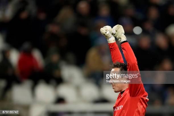 Diederik Boer of PEC Zwolle celebrates 12 during the Dutch Eredivisie match between SC Heerenveen v PEC Zwolle at the Abe Lenstra Stadium on November...