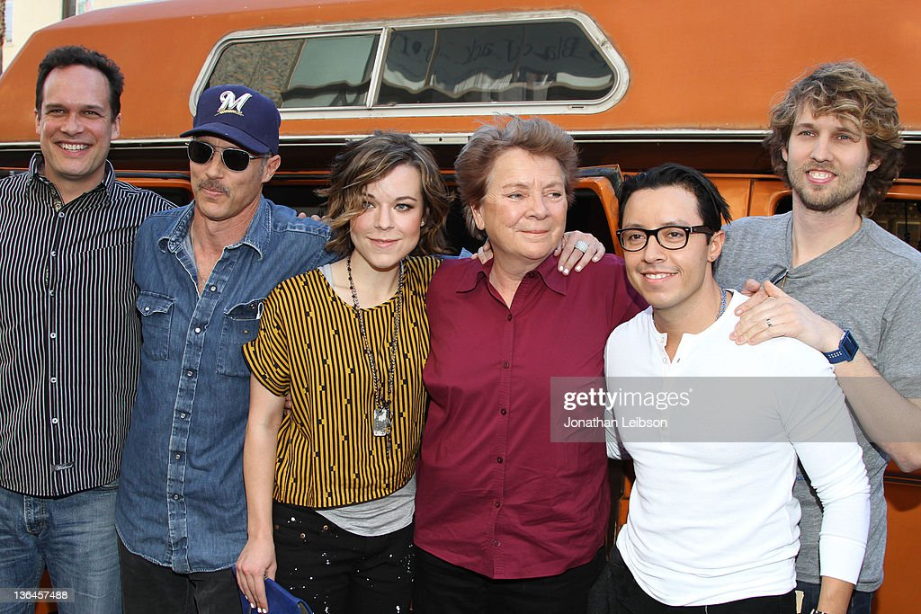 Diedrich Bader Jon Gries Tina Majorino Sandy Martin Efren Ramirez and Jon Heder attend the Napoleon Dynamite SoundALike Contest at Hollywood and...