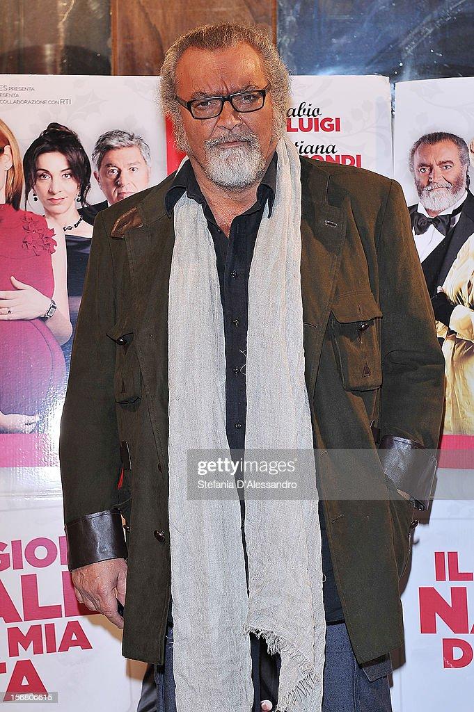 Diego Abatantuono attends 'Il Peggior Natale Della Mia Vita' Premiere on November 21, 2012 in Milan, Italy.