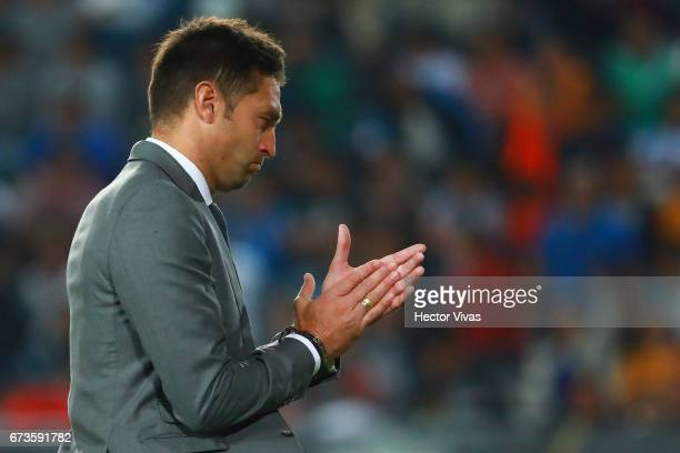 Diego Alonso head coach of Pachuca during the Final second leg match between Pachuca and Tigres UANL as part of the CONCACAF Champions League 2016/17...