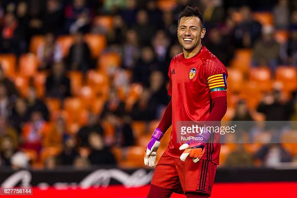 01 Diego Alves of Valencia CF during the Spanish La Liga Santander soccer match between Valencia CF vs Malaga CF at Mestalla Stadium on December 4...