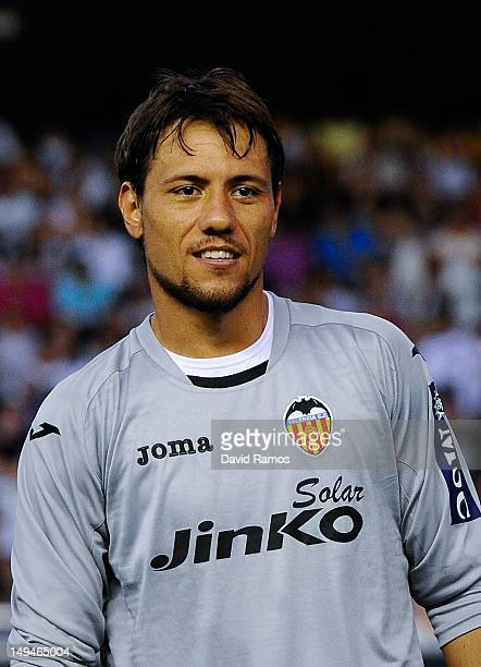 Diego Alves of Valencia CF poses prior to a PreSeason friendly match between Valencia CF and FC Porto at Estadio Mestalla on July 28 2012 in Valencia...