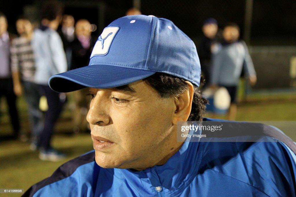 Diego Armando Maradona Trains In Formello