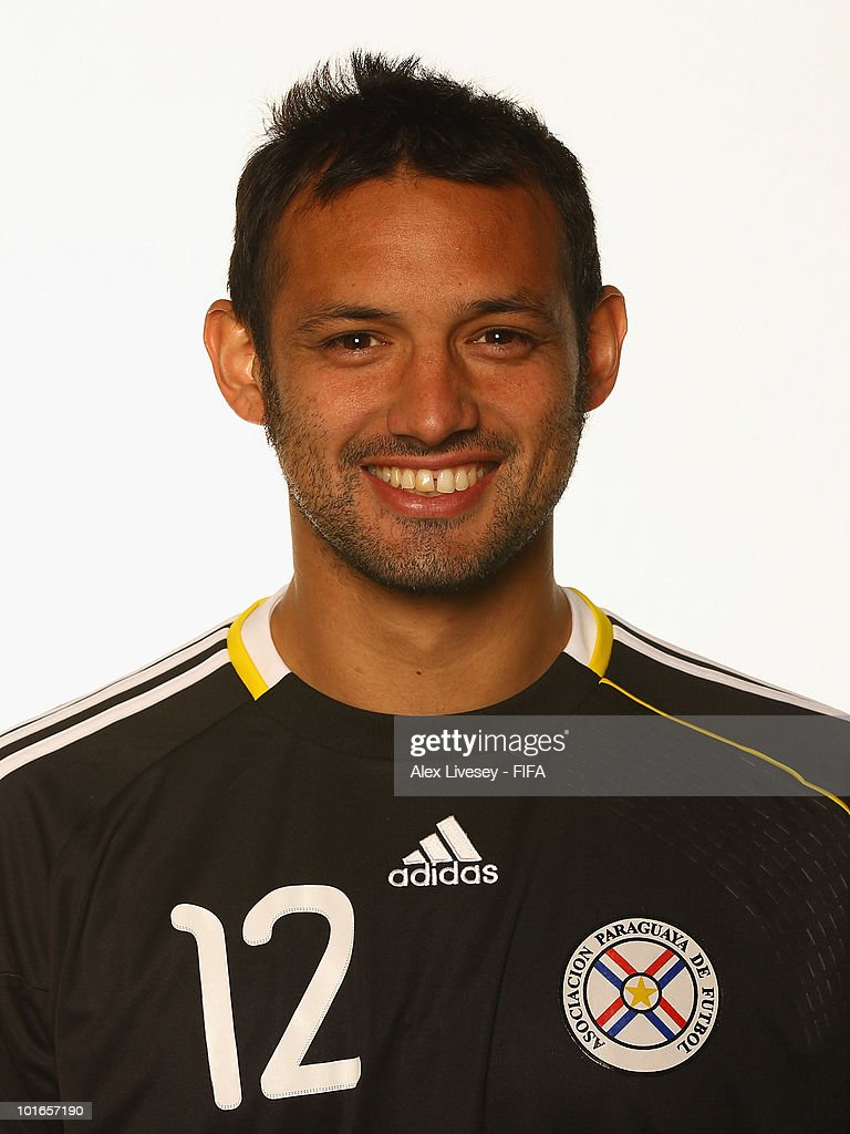 <a gi-track='captionPersonalityLinkClicked' href=/galleries/search?phrase=Diego+Barreto&family=editorial&specificpeople=2939685 ng-click='$event.stopPropagation()'>Diego Barreto</a> of Paraguay poses during the official FIFA World Cup 2010 portrait session on June 5, 2010 in Durban, South Africa.
